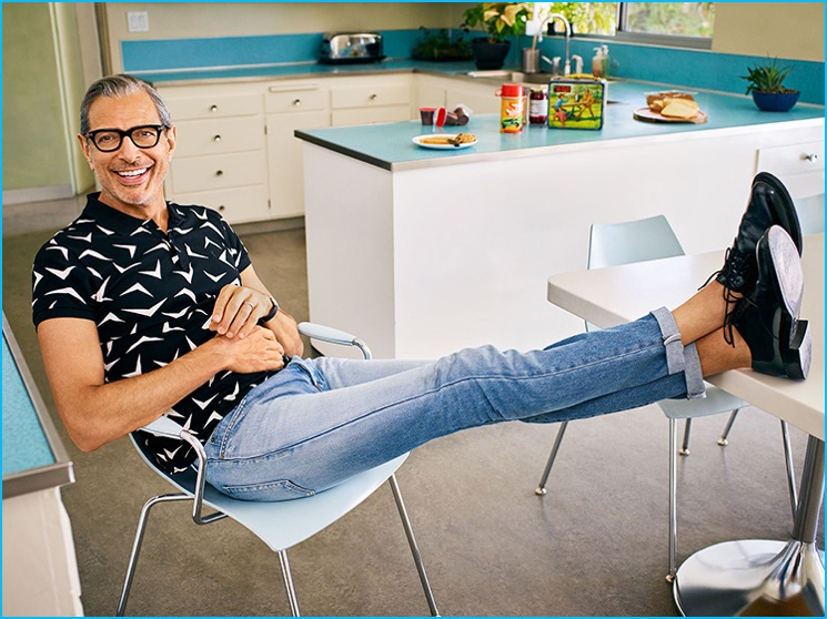 Jeff Goldblum photographed by Jeff Lipsky for Parade magazine.