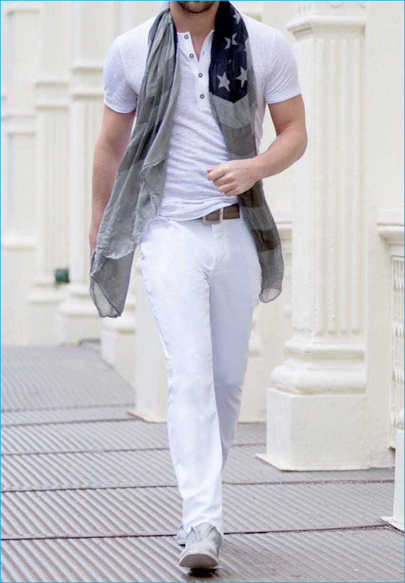 John Varvatos Shows How to Wear White Denim Jeans