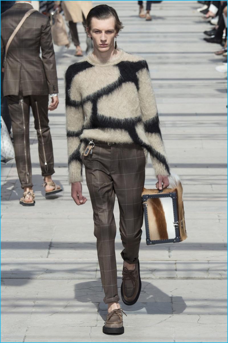 aa9d3800eba0 Louis Vuitton expands its safari theme into a giraffe print sweater for  spring-summer 2017