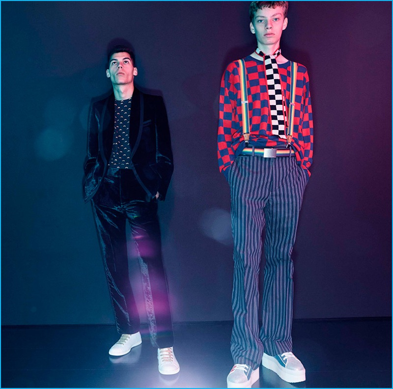 Checkerboard and striped prints come together for a playful spring-summer 2017 collection from Marc Jacobs.