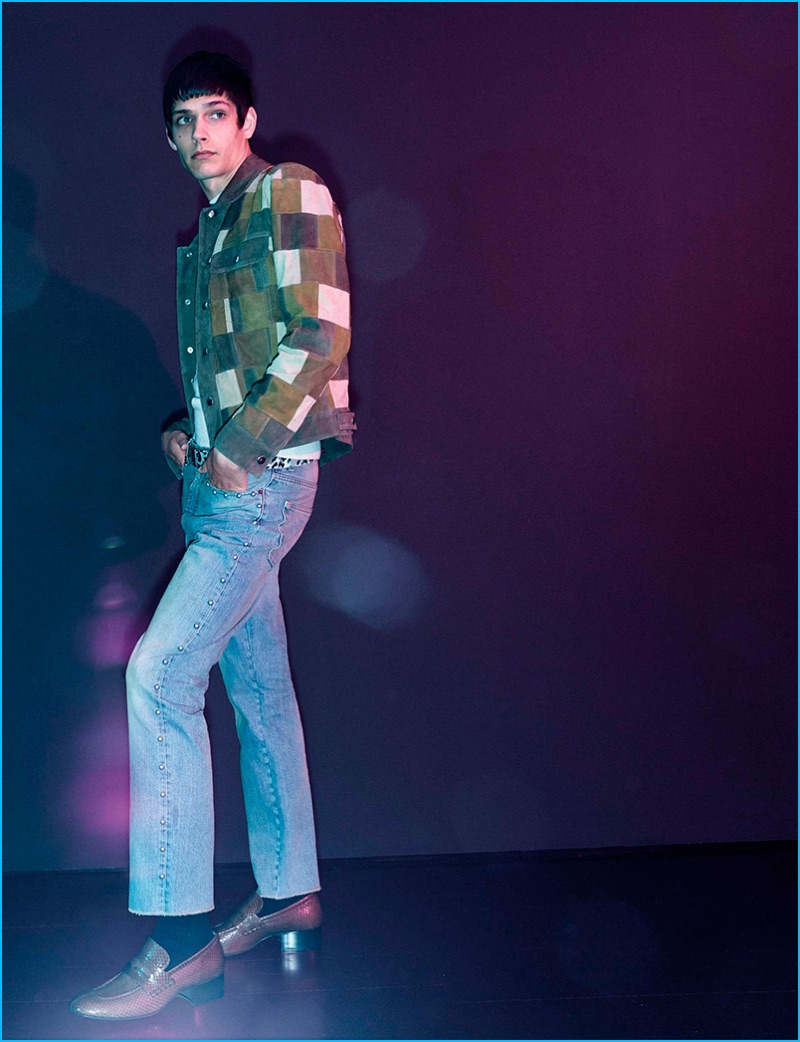 Lightwash denim is front and center for Marc Jacobs' spring-summer 2017 collection.