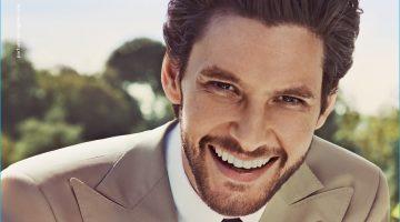 Ben Barnes is all smiles for Salvatore Ferragamo's Uomo fragrance campaign.