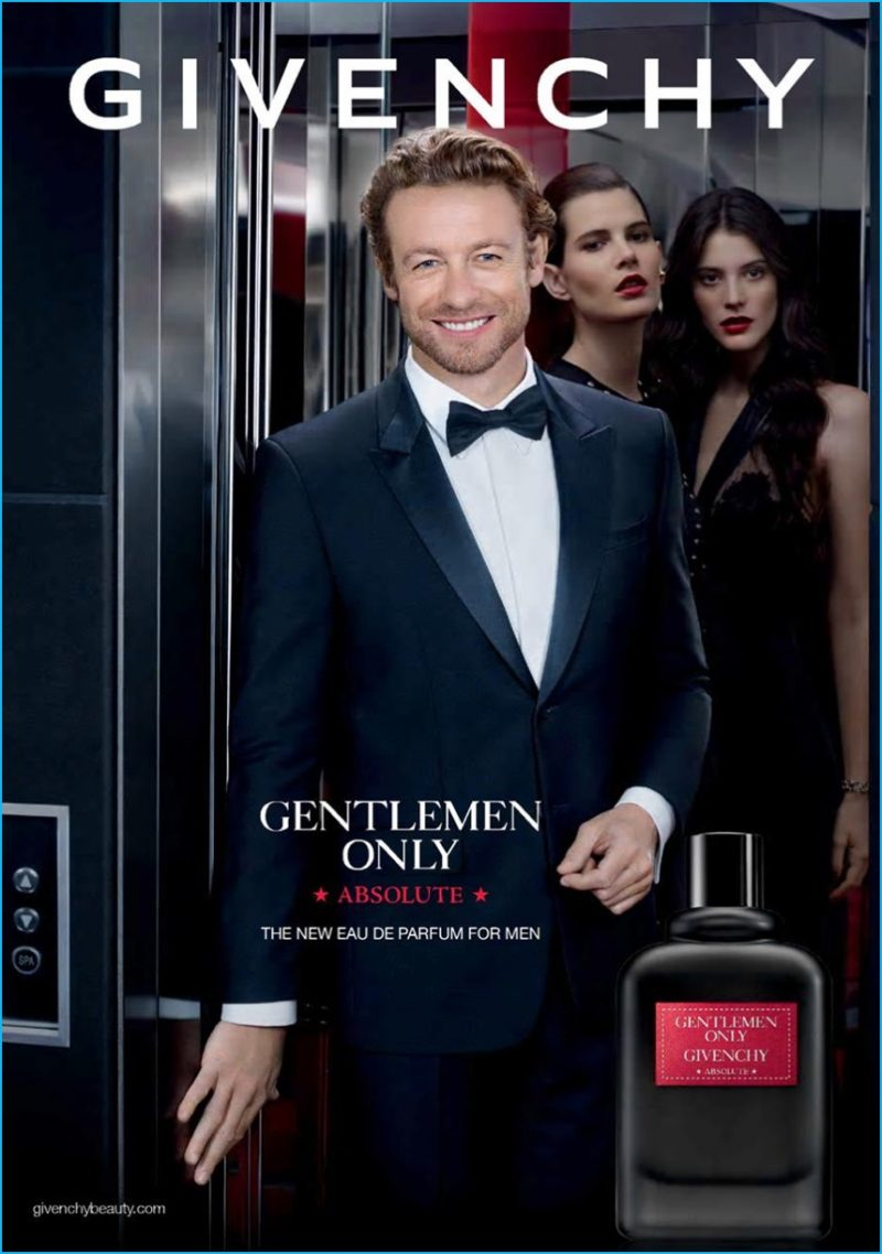 Simon Baker is all smiles for Givenchy Gentlemen Only Absolute fragrance campaign.