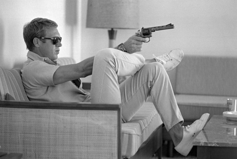 Known for his classic style, Steve McQueen was a fan of Jack Purcell sneakers.