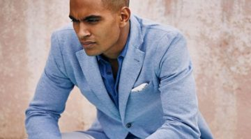 Terence Telle Enjoys Sunset Moments with Massimo Dutti