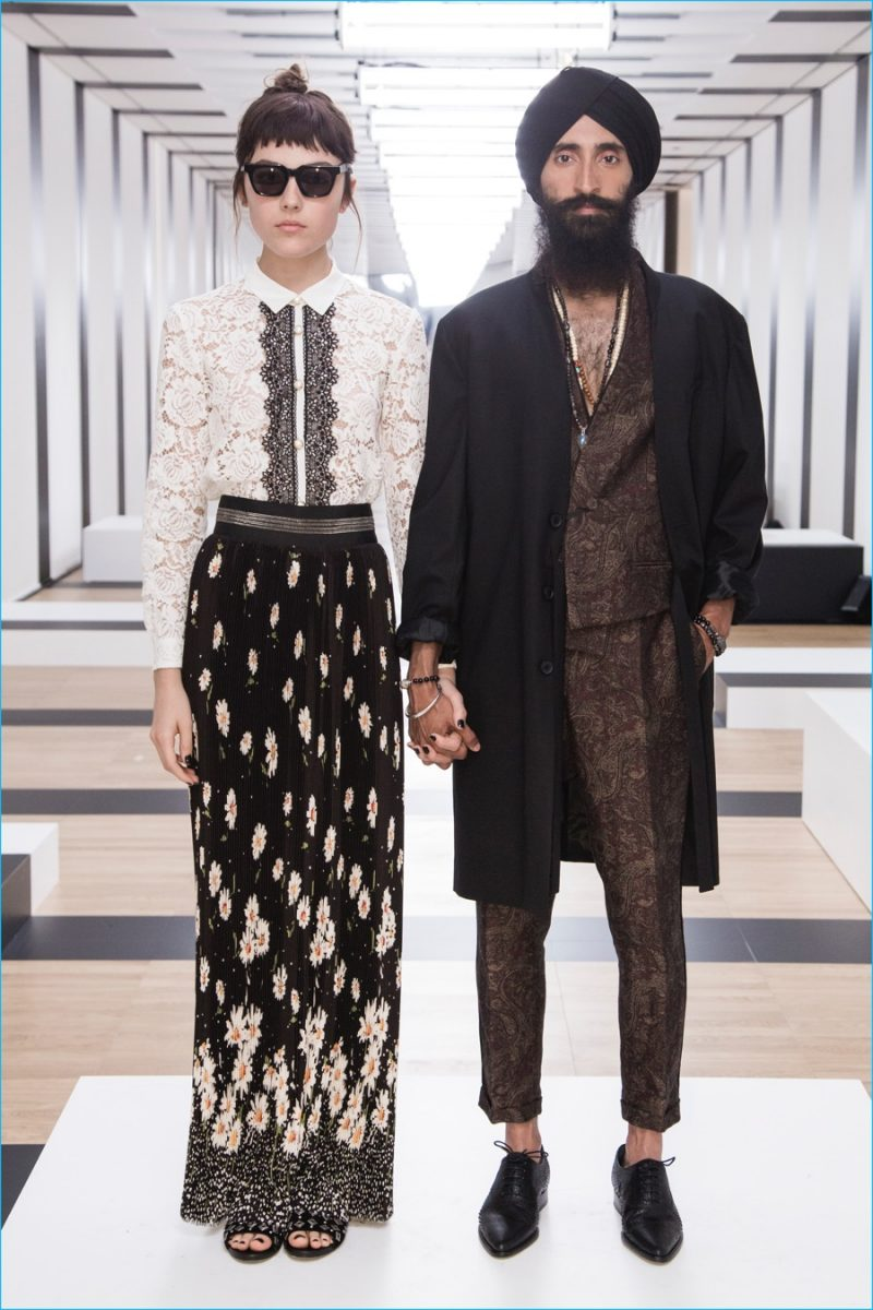 Designer Waris Ahluwalia serves as muse for The Kooples' spring-summer 2017 collection.