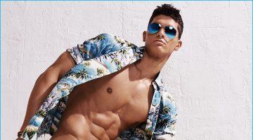 Trevor Signorino Rocks Swimwear for GQ Summer Shoot