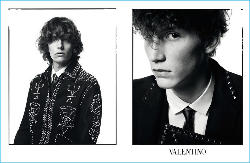 Bradley Phillips and Harold Vente star in Valentino's fall-winter 2016 advertising campaign.