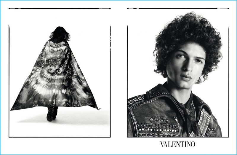 Djavan Mandoula stars in Valentino's fall-winter 2016 advertising campaign.