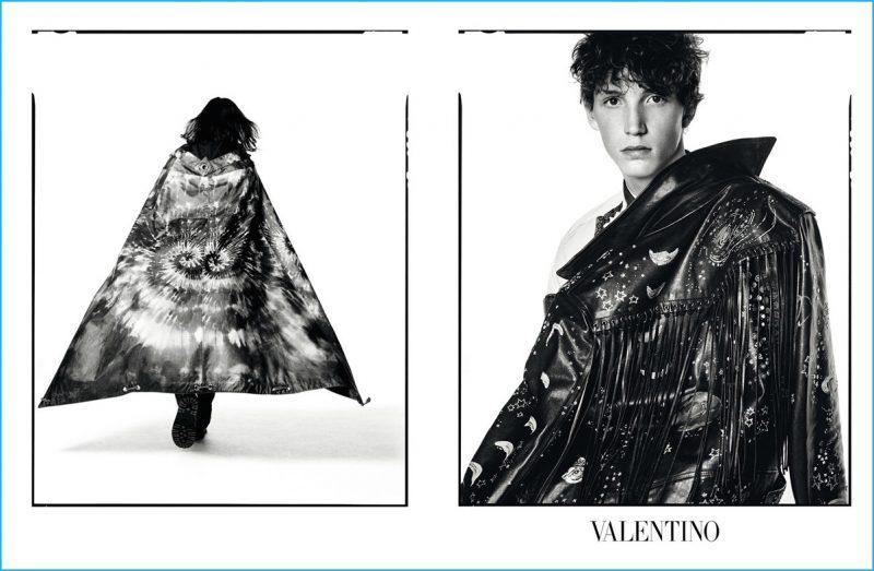 Harold Vente stars in Valentino's fall-winter 2016 advertising campaign.