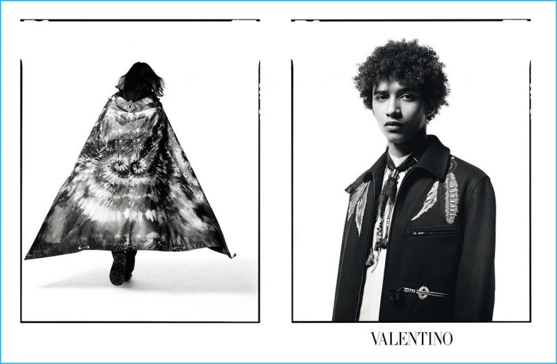 Jakcson Hale stars in Valentino's fall-winter 2016 advertising campaign.