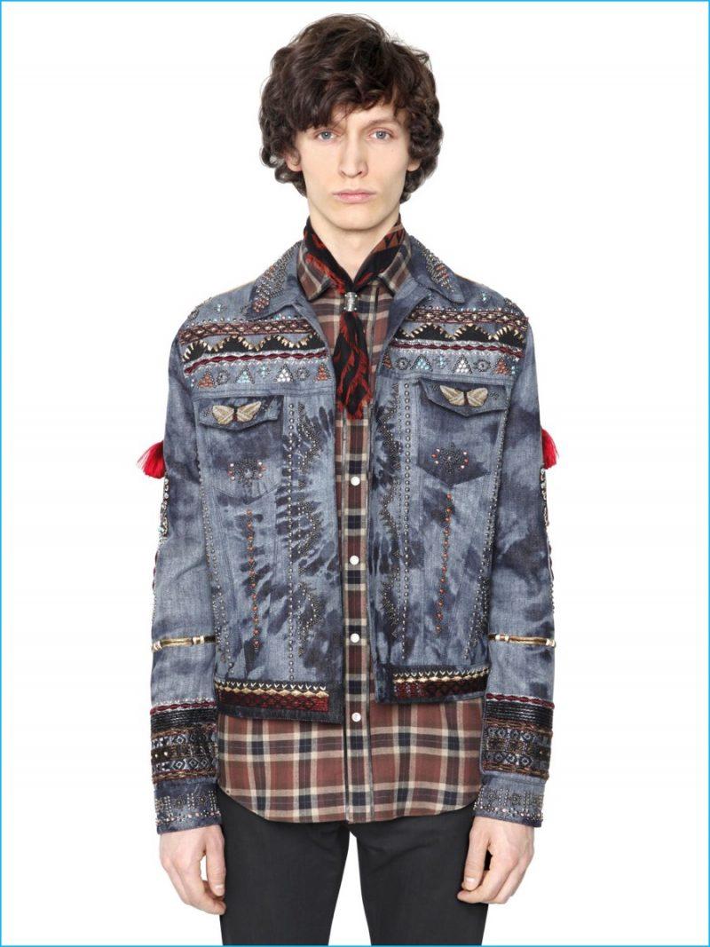 Valentino Tie-Dye Denim Jacket