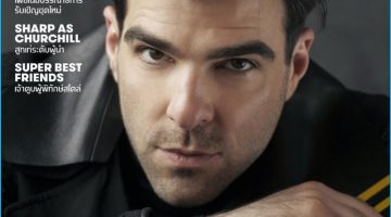 Zachary Quinto is Style Savvy for L'Optimum Thailand Cover Shoot