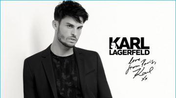 Baptiste Giabiconi Returns for Karl Lagerfeld's Fall Campaign
