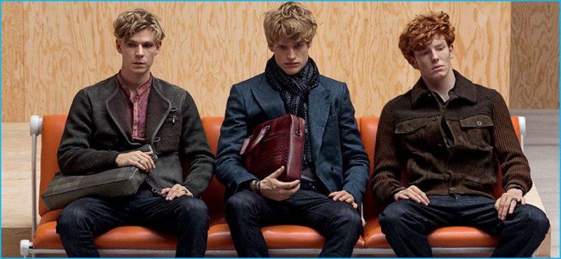 Bottega Veneta juxtaposes tailoring and denim for its pre-fall 2016 men's collection.