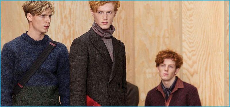 Bottega Veneta embraces autumnal hues for its pre-fall 2016 men's collection.