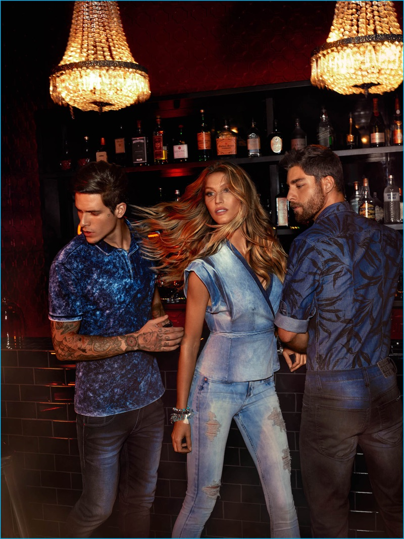 Diego Fragoso and Andre Ziehe join Gisele Bündchen for Colcci's spring-summer 2017 campaign.