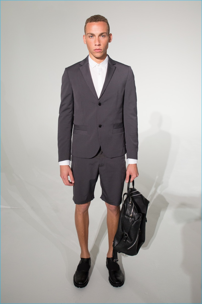 David Naman champions the short suit for spring-summer 2017.