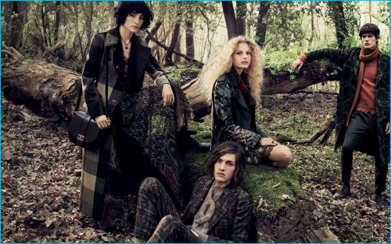 Models Heather Kemesky, Marcel Castenmiller, Frederikke Sofie and Elias de Poot star in Etro's fall-winter 2016 campaign.