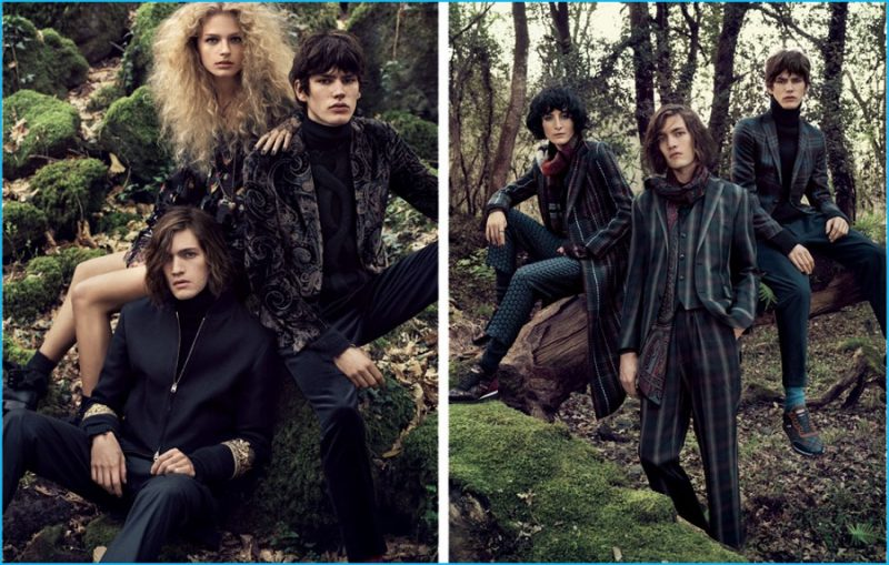 Rich cashmeres, intricate jacquards and more are front and center for Etro's fall-winter 2016 campaign.