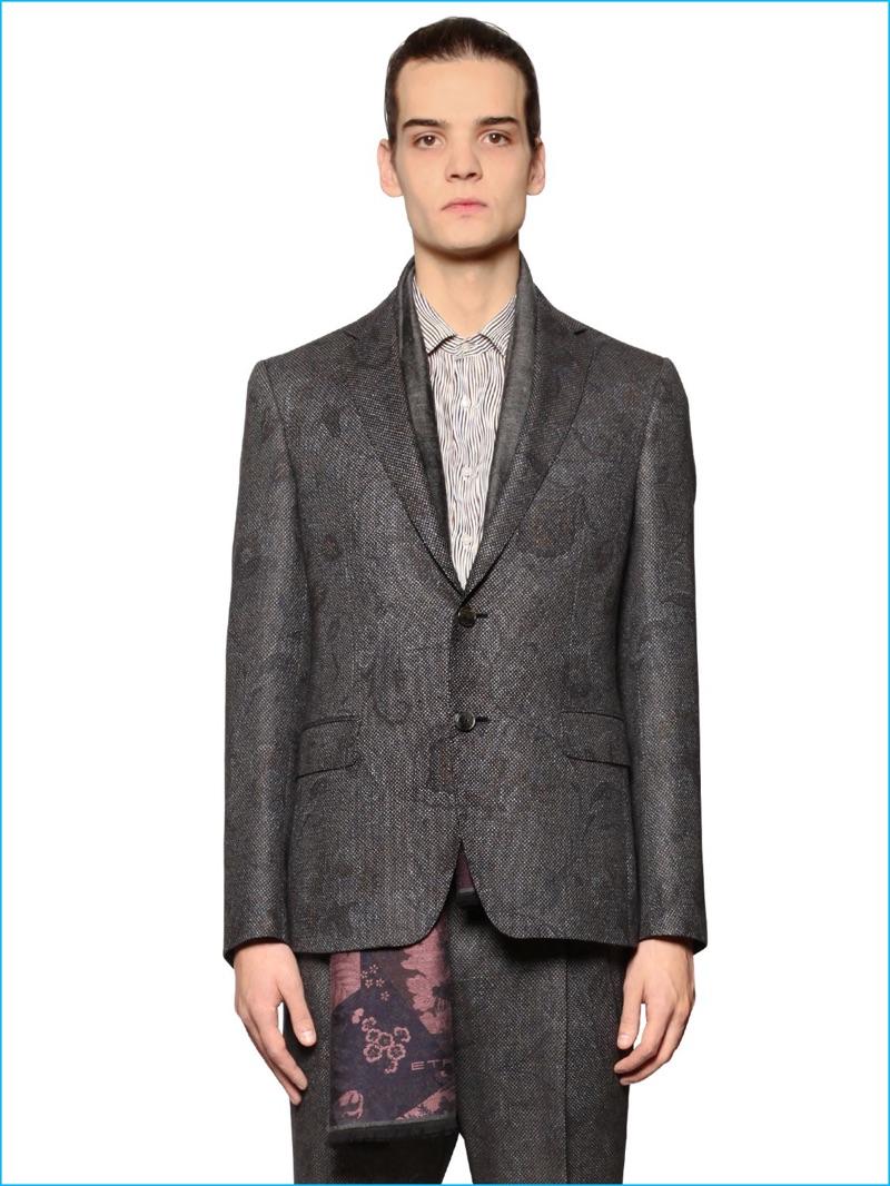 Etro Men Paisley Jacquard Jacket
