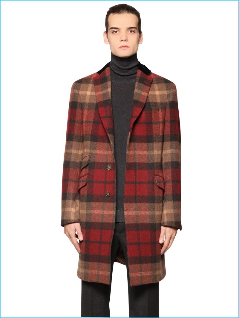 Etro Men Plaid Coat