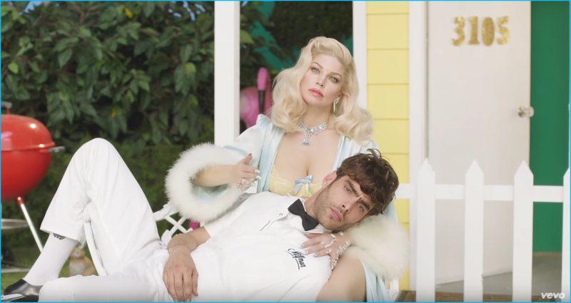 Fergie poses with Jon Kortajarena in her M.I.L.F. $ music video.