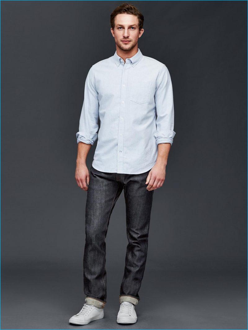 cbf68b57af1 Gap Slim Fit Denim Shirt