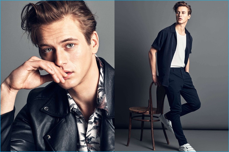 Chinos, bowler shirts and biker jackets make the cut for H&M's latest men's essentials.