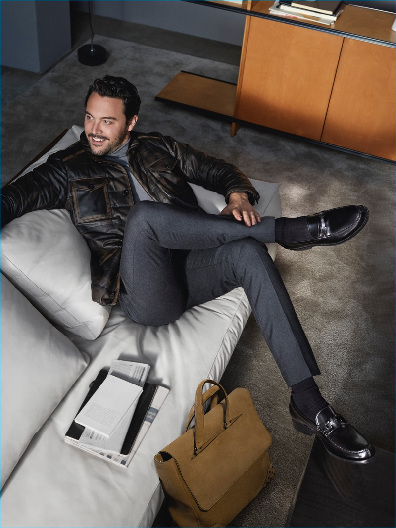 Jack Huston photographed by Tom Craig for TOD'S fall-winter 2016 campaign.