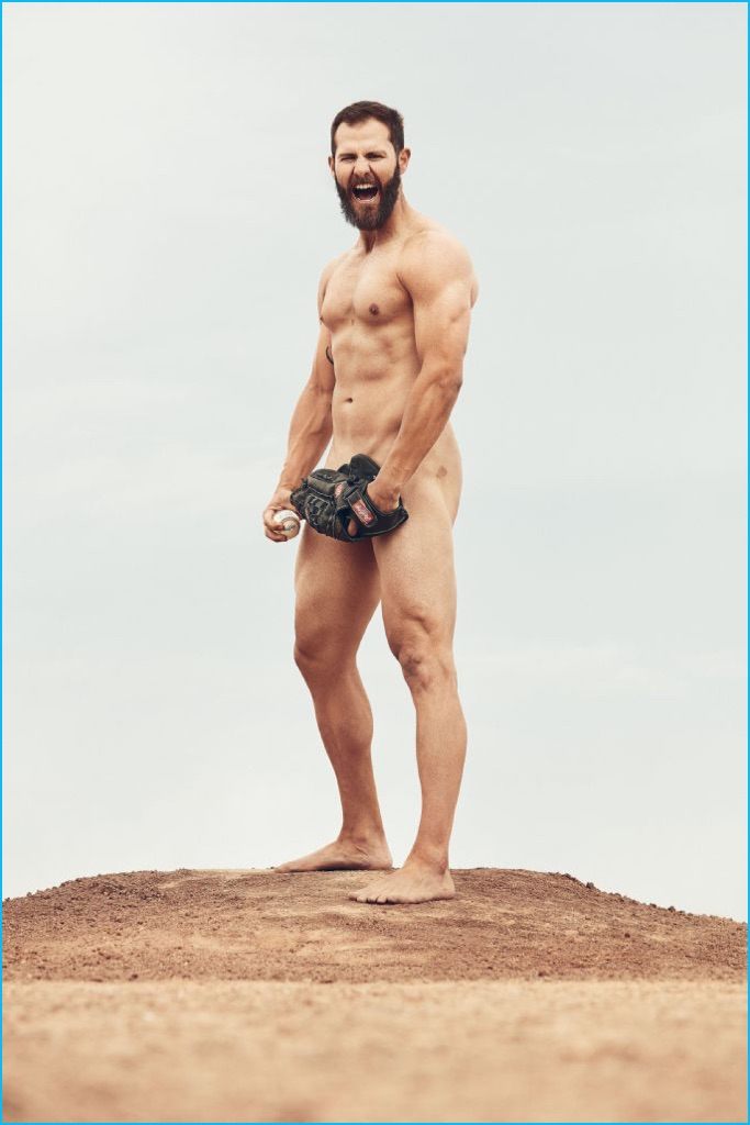 Jake Arrieta photographed by Marcus Eriksson for ESPN's 2016 Body Issue