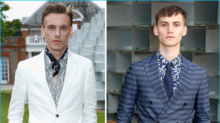 Jamie Campbell Bower & Josh Mclellan Don Tommy Hilfiger's Perfect Summer Suiting