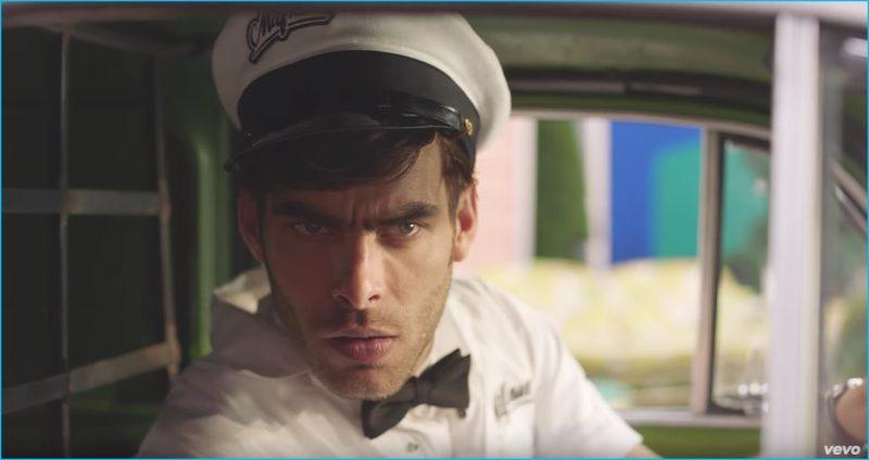 Spanish model Jon Kortajarena plays a milkman for Fergie's M.I.L.F. $ music video.