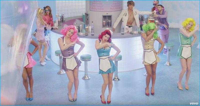 Australian model Jordan Barrett serves up milkshakes for Fergie's M.I.L.F. $ music video.