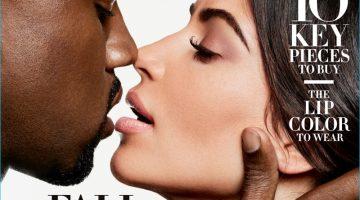 Kanye West & Kim Kardashian Cover Harper's Bazaar September Issue