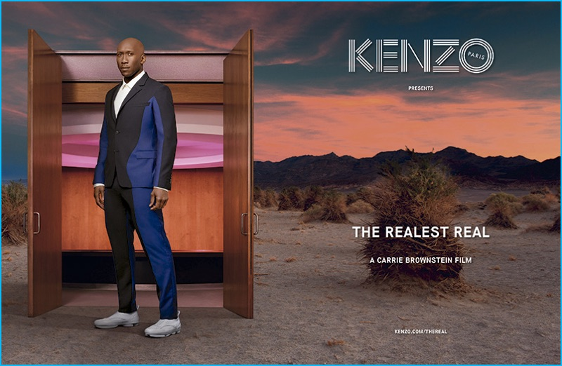 Actor Mahershala Ali for Kenzo's fall-winter 2016 campaign.