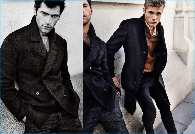 Sean O'Pry and Steven Chevrin don classic menswear for Massimo Dutti's fall-winter 2016 campaign.