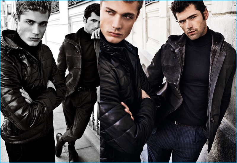 Models Steven Chevrin and Sean O'Pry photographed by Mario Testino for Massimo Dutti's fall-winter 2016 campaign.