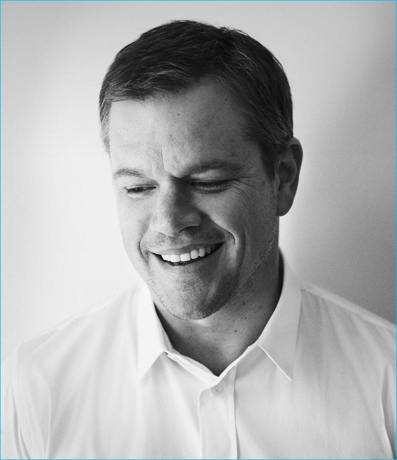 Matt Damon photographed by Simon Emmett for Esquire UK.