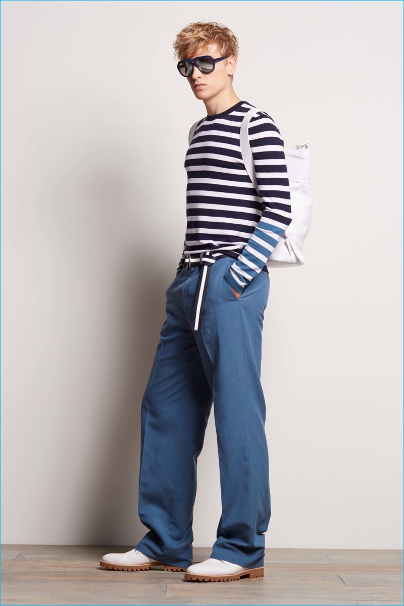 Stripes play to Michael Kors' nautical theme for spring-summer 2017.