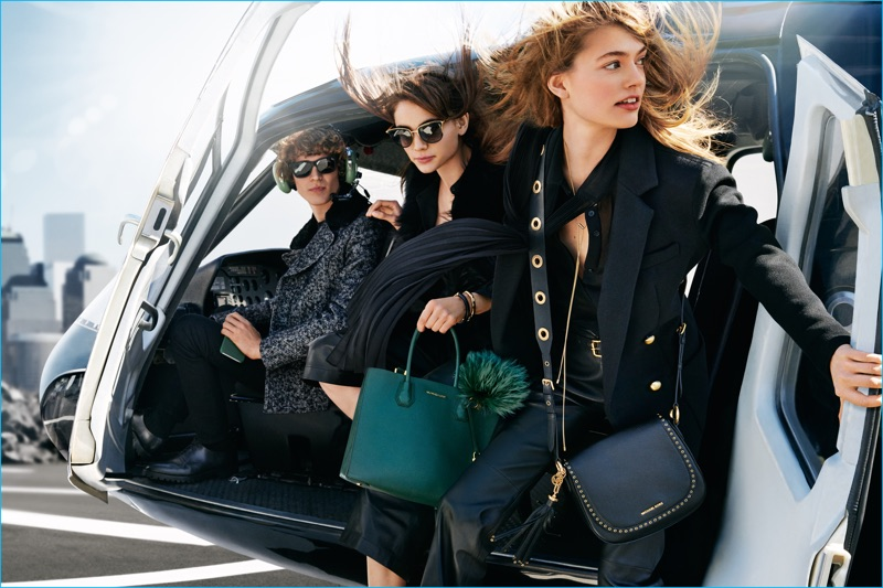 Models Sven de Vries, Emmy Rappe and Romy Schonberger star in MICHAEL Michael Kors' fall-winter 2016 campaign.