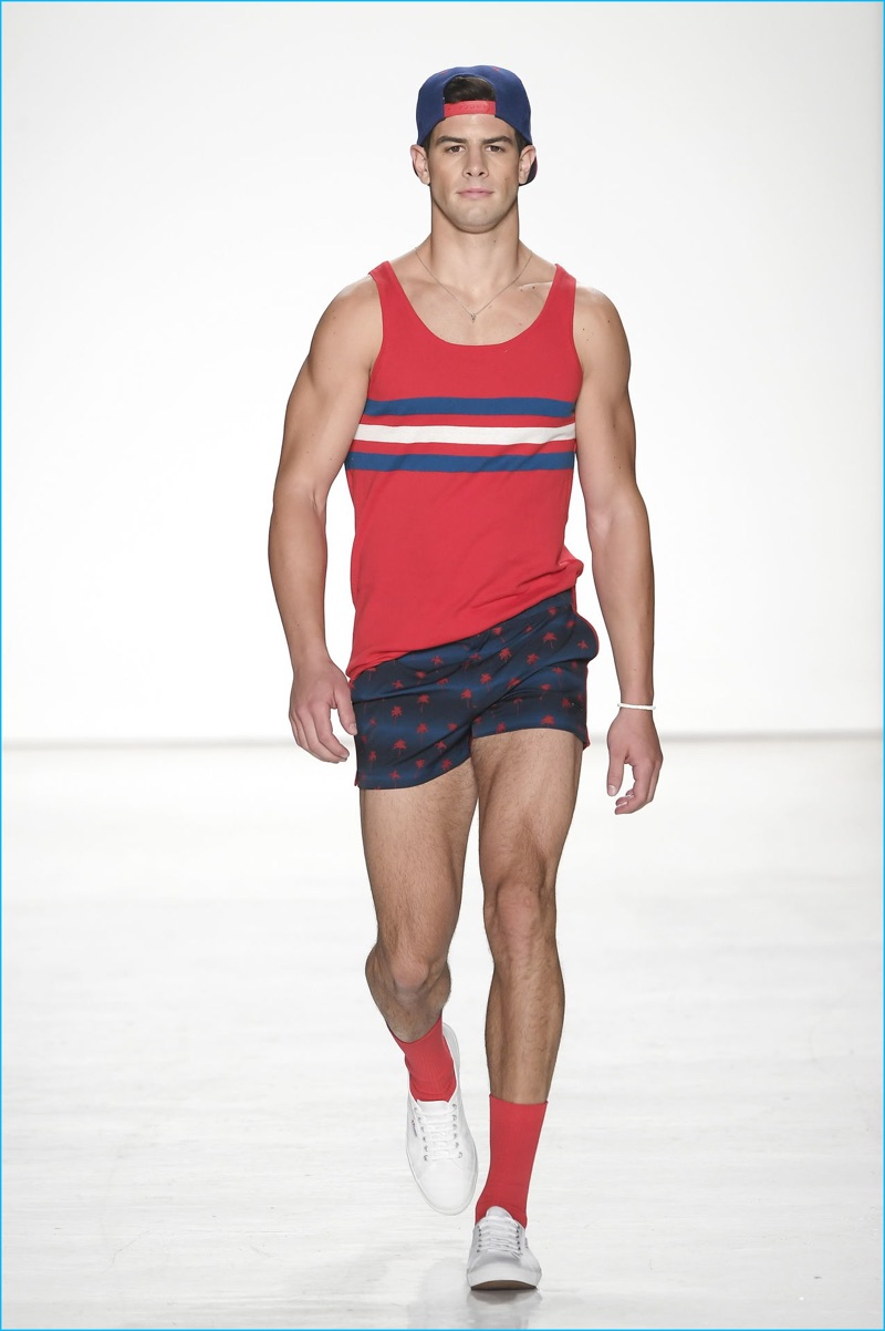 Parke & Ronen embraces colorful summer style with easy pieces such as the tank top for spring-summer 2017.