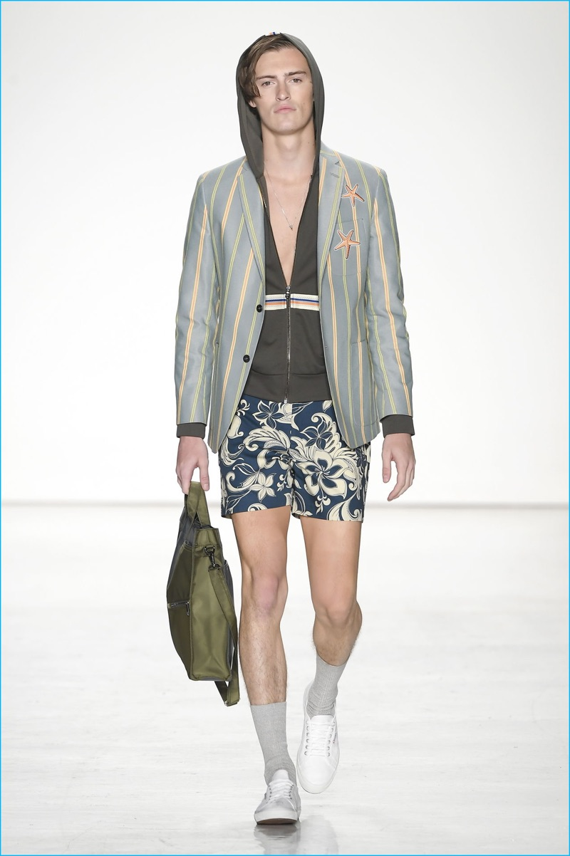 Parke & Ronen extends its preppy vision with blazers, made in partnership with David Hart for spring-summer 2017.