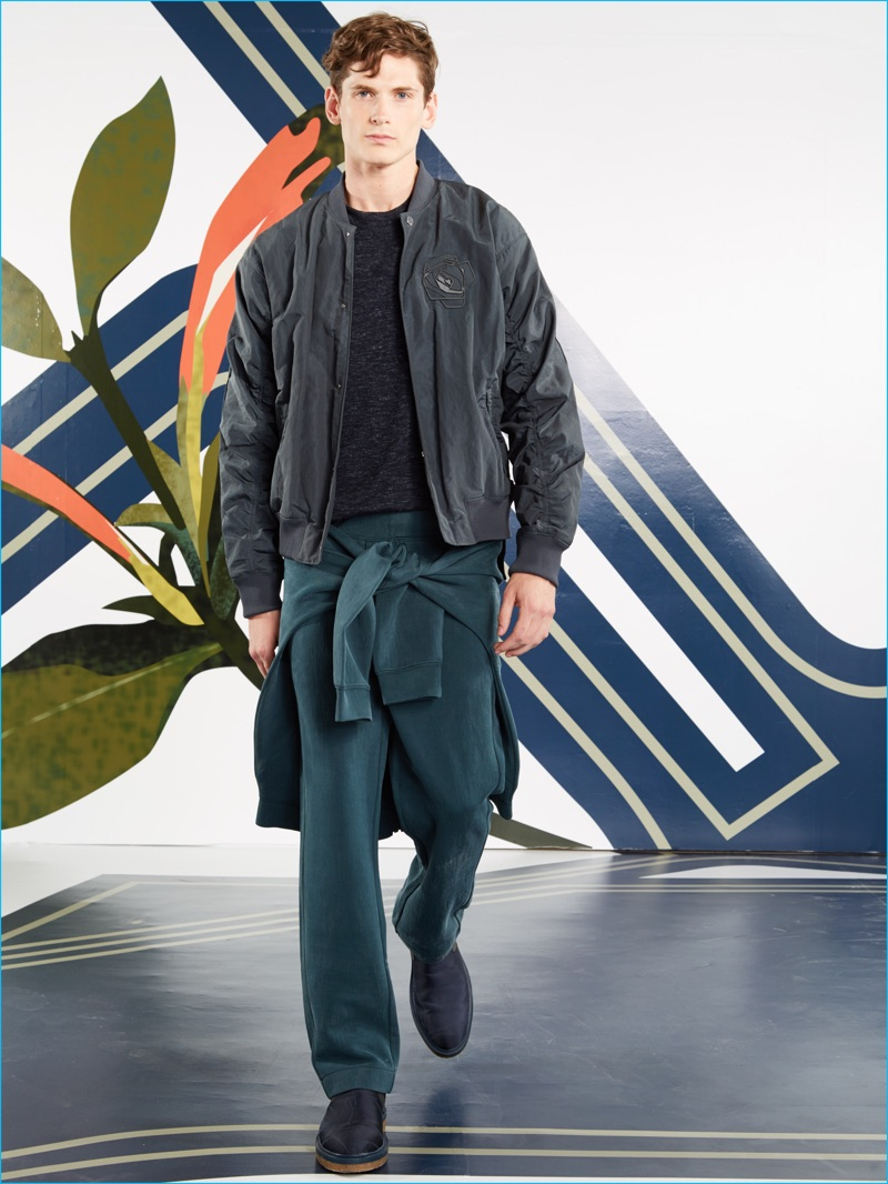 Perry Ellis champions relaxed essentials such as joggers for its spring-summer 2017 collection.