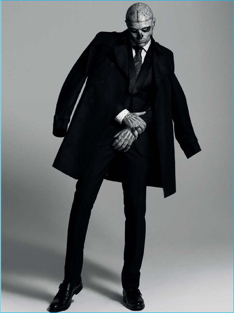 Rick Genest Returns To The Spotlight Suits Up For Dtk Men
