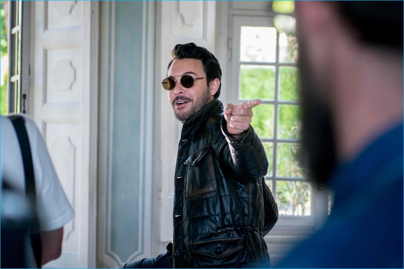 Jack Huston captured behind the scenes of his fall-winter 2016 campaign for TOD'S.