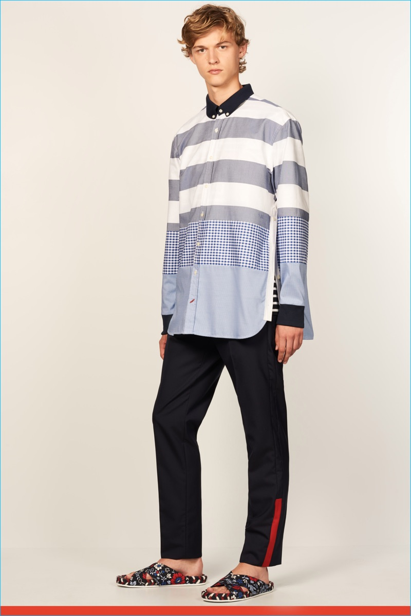 Fashion lookbook 2017 - Tommy Hilfiger Makes A Case For The Oversized Button Down Shirt For Spring Summer