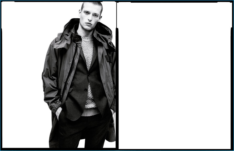 Julius Gerhardt fronts Zara Man's fall-winter 2016 campaign.