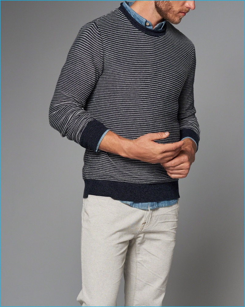 Abercrombie & Fitch Striped Roll Neck Sweater