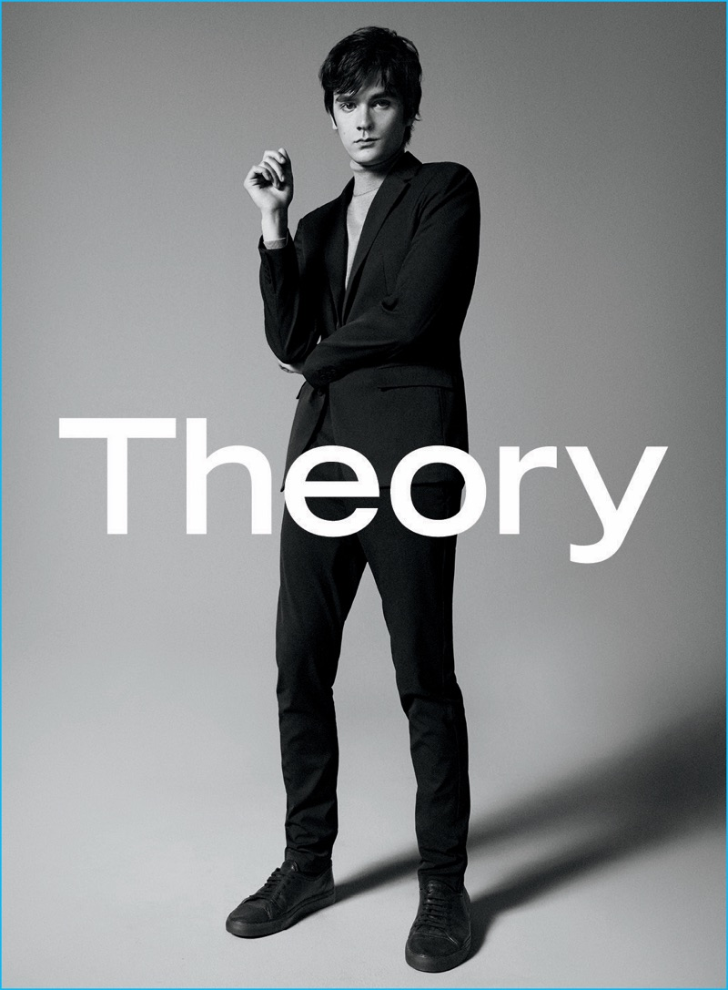 Alain-Fabien Delon is a sleek vision for Theory's fall-winter 2016 advertising campaign.